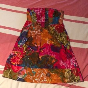 Anthropologie Buttoned Watercolor dress Sz 8
